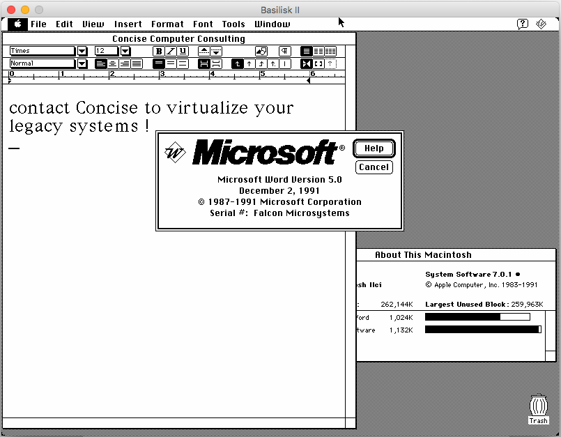 Virtualizing a Mac OS System 7 0 1 (from 1991) in 2017