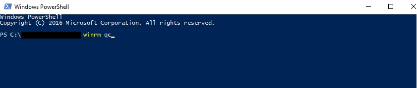winrm qc in elevated PowerShell